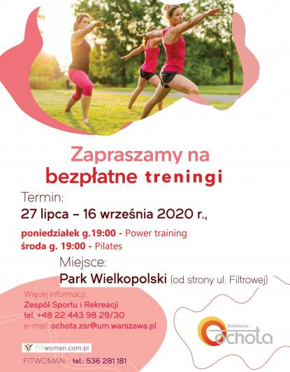 Treningi - Power training i Pilates w Parku Wielkopolski